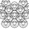 Cartoon of a flock of sheep